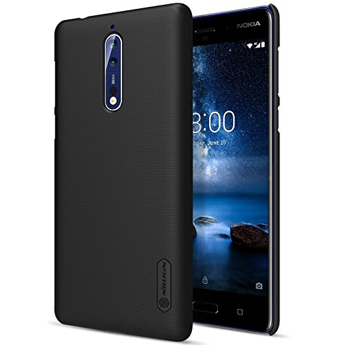 reputable site 4a246 e9f29 Nillkin Super Frosted Shield Hard Back Cover Case for Nokia 8 - (Black)