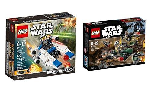 Lego Star Wars Juego compuesto de 75164Rebel Trooper Battle Pack y 75160U de Wing Micro Fighter
