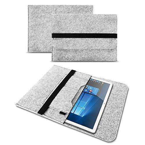 UC-Express® Tasche Hülle für Odys Winpad V10 Filz Hülle Sleeve Cover Tablet Bag Schutzhülle, Farben:Helles Grau