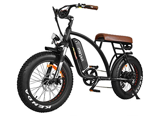 Bicicleta eléctrica M-60 de 20 Pulgadas Bicicleta neumática de neumáticos de Ruedas con 500W Motor 48V 10.4 AH batería de Litio Bici elétrica E-Bike Nuevo diseño 2018 (Negro)