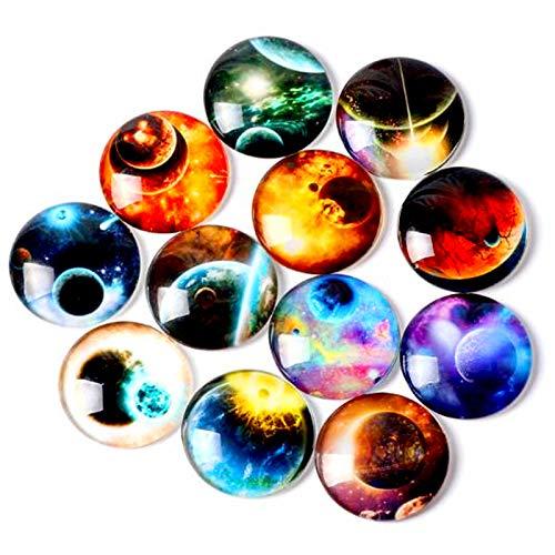 3D Imanes de Nevera Redondos Imanes de Nevera Imanes de neodimio Imanes de Neodimio Redondos Imanes Frigorifico de Cristal 18mm para Gabinetes Oficina Pizarras Fotografías 30 pcs(Estilo aleatorio)