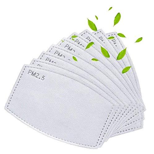 filtros PM2,5 de carbón activado con 5 capas, reemplazables, antiniebla, filtro de papel para adultos(48+2 unidades)