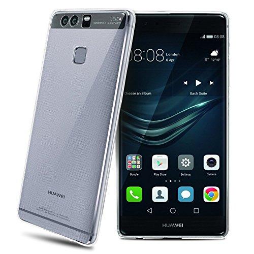 Funda Huawei P9 - Carcasa de silicona y TPU Gel para Huawei P9 (Huawei P9, transparente)
