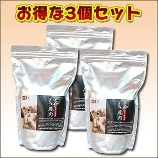 【国産・無添加・全年齢】鹿肉ドッグフード DOGSTANCE 鹿肉ベーシック 1kg×3袋 (鹿肉 犬用/犬 鹿肉)