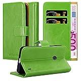 Cadorabo Funda Libro para Nokia Lumia 520 en Verde Hierba - Cubierta Proteccíon con Cierre Magnético, Tarjetero y Función de Suporte - Etui Case Cover Carcasa