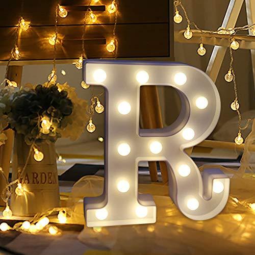 Letrero de luz de carta WATOPI Carpa luz luz con control remoto Marquesina luces señal para luz nocturna de pie boda fiesta de cumpleaños batería lámpara de Navidad Home Bar