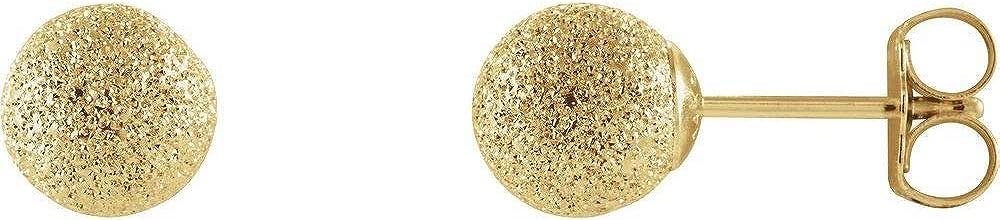 14k Yellow Gold Stardust Ball Earrings