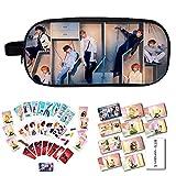 YEeyuTrwd BTS Merch Kit BTS Bangtan Boys BTS Love Yourself Answer, Bleistiftetui/Kosmetiktasche + BTS-Kartenaufkleber + BTS-Fotokarte mit Clip und Hanfseil(Version E1)