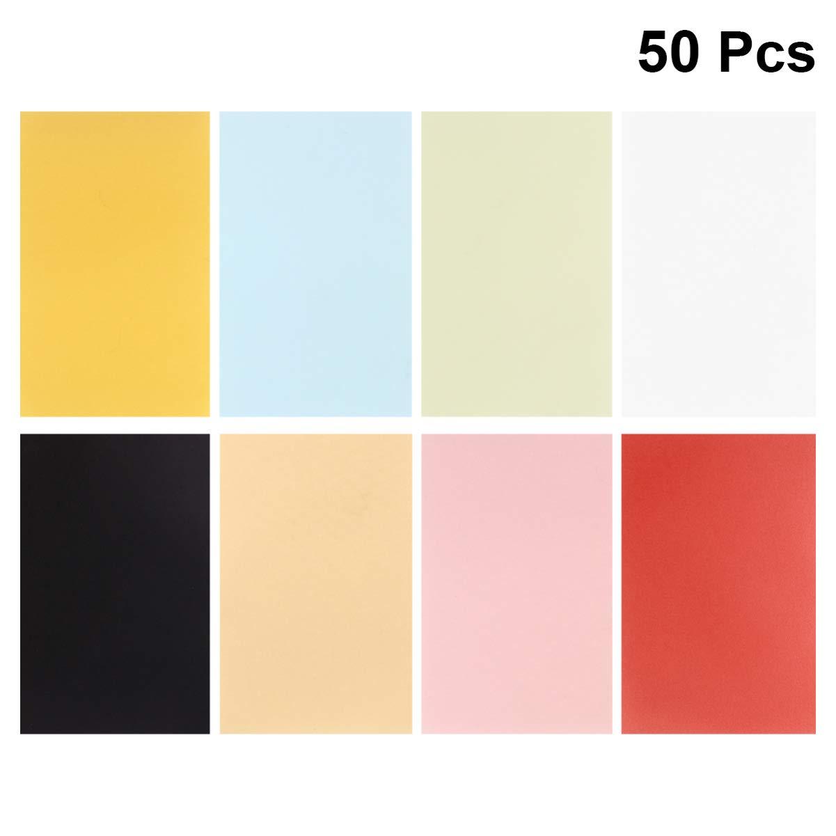 SUPVOX 50 Hojas de Papel de Dibujo Translúcido Papel Vitela Papel Vitela de Color Papel de Calco para Imprimir Dibujo Impresora Láser de Inyección de Tinta: Amazon.es: Hogar