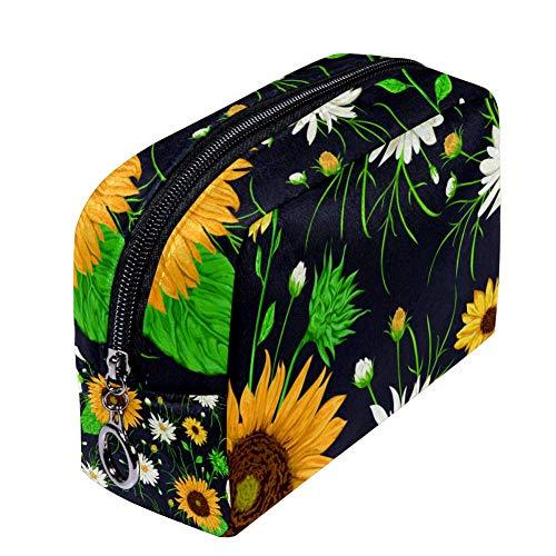 Shiiny Sunrise Sunflower Sunrise Trousse de maquillage étanche multifonction pour femme