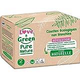 Love And Green - Pañales para bebé (talla 2, 3 a 6 kg), color natural