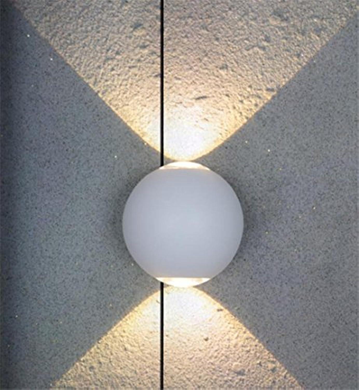 StiefelU LED Wandleuchte nach oben und unten Wandleuchten Stirnwand lampe Runde dekorative Beleuchtung LED-Wand Lampe, 12 x 10 cm, weiss Sterne