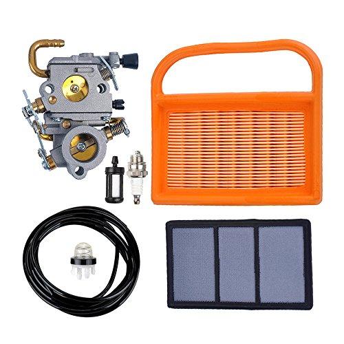 Savior C1Q-S118 Carburetor with Air Filter Spark Plug Fuel Line Primer Bulb Fuel Filter for Stihl TS410 TS420 Cut Off Saw 4238 120 0600 4238 141 0300 4238 140 1800