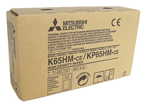 Mitsubishi Electric Corporation K65HM-CE/ KP65HM-CE Kit Carta Termica ad Alta Densità per Stampante Medicale, A6, 110 mm x 20 m, 4 pezzi