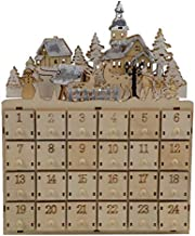 MorTime 24 Day Advent Calendar,Countdown to Christmas Wooden Advent Calendar 24 Storage Drawers, 100% Wood Construction | Cute Holiday Decoration | Measures (Tree Reindeer Cabin)