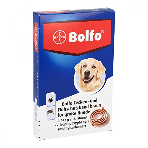 BOLFO Flohschutzband braun f.große Hunde 1 St Halsband 1 St Halsband