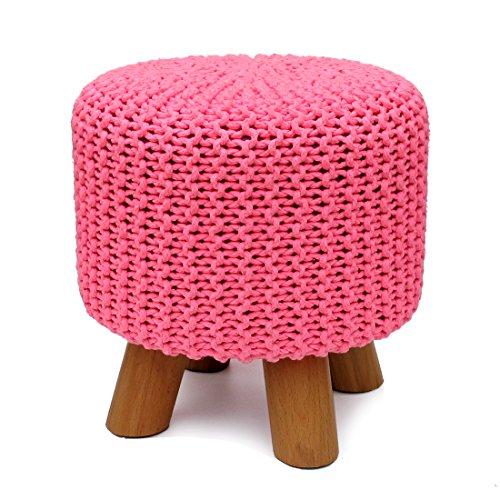UUSSHOP Pink Footrest Pouffe