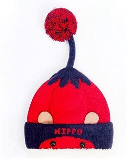 Sombrero De Invierno Frío Invierno Chico Chica Caliente Piloto Kids Red Hat Beanie Niños Espeso Pom Pom Cute Hat