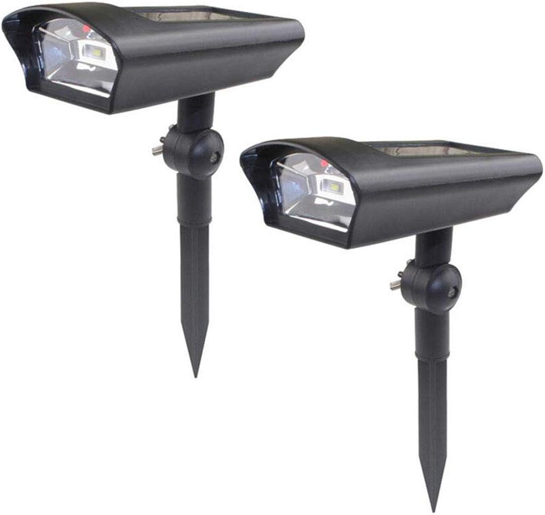 2 W Rasenbeleuchtung Solar Wall Light Solar Infrarot-Sensor Dekorative 3,2 V Outdoor Lighting LED-Perlen für Patio, Yard, Driveway, Treppen 2PC