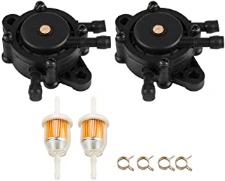 Dxent GT235 Fuel Pump w Fuel Filter for John Deere Lawn Mower LA175 LA165 LA155 LA145 LA135 LA125 LA115 LA105 LA150 LA140 LA130 LA120 GT235E GT245 GX255 GX325 GX335 GX345 GX85 G100 G110