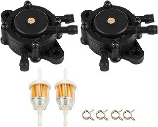 2PCS Fuel Pump w Fuel Filter for John Deere Lawn Mower LA175 LA165 LA155 LA145 LA135 LA125 LA115 LA105 LA150 LA140 LA130 LA120 GT235 GT235E GT245 GX255 GX325 GX335 GX345 GX85 G100 G110
