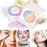 Allbesta 6 Farben Rainbow Highlighter Lidschatten Palette Mineral Sleek Powder für 3D Gesicht...
