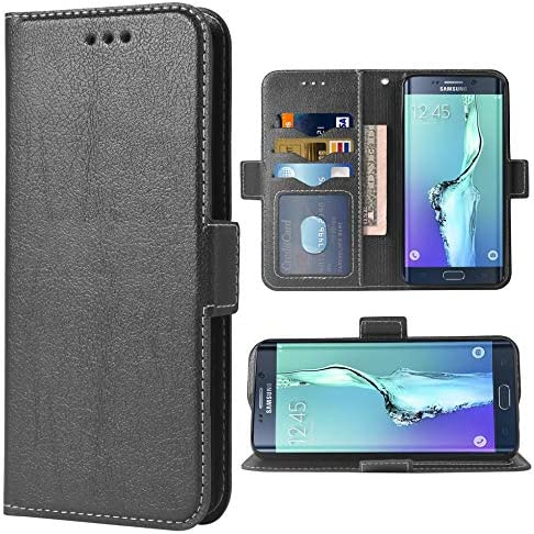 Phone Case for Samsung Galaxy S6 Edge Folio Flip Wallet Case PU Leather Credit Card Holder Slots product image