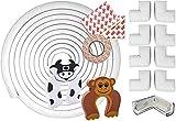 11 Piezas Kit de Seguridad para Infantil Bebé Niño| 6M (19.6Ft) Protector Esquinas para Mesas y Muebles, 8 Bordes Cantos Protectores, 2 Protectores Puertas| Alta Calidad con...