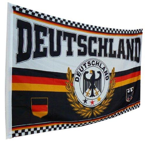 Deutschland - Germany Fahne Flagge / Motiv Adler 150 x 90