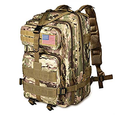 NOOLA Military Tactical Backpack Army Rucksack Assault Pack Molle Bag Multicam CP