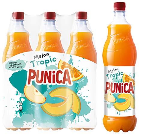 Punica Classic Melon Tropic – Fruchtig frisches Mehrfruchtsaftgetränk – 6 x 1,25l Flasche