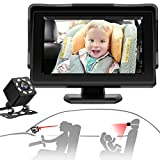 CHERYLON Smart Baby Car Mirror with Camera, Car Seat Mirror with...