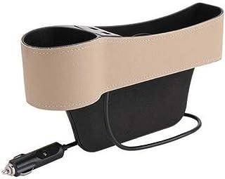 D DOLITY Car Seat Gap Filler, Console Side Pocket Storage Box Holder Organizer with 2 USB Charging Ports 2 Lighters Socket...