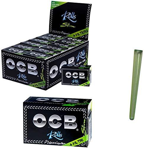 Neuheit: OCB Rolls inkl. Filter Tips, 24 Stück (Karton) + Joint-Hülle