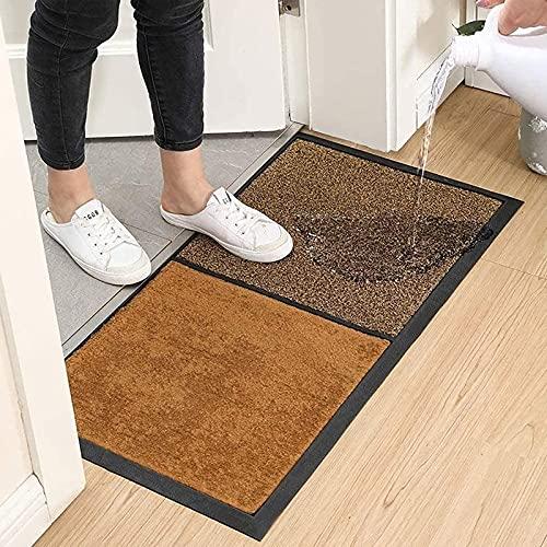 Hiocpl Shoe Sanitizer Mat Shoe Mats for Entryway Indoor Shoe Soles Disinfecting Floor Mat Doormat Disinfecting Mat Front Door Mat Outdoor Household Disinfectant Foot Pads Carpet and Door Mats, Brown