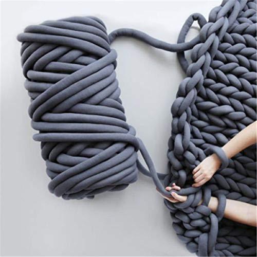 Neverending Riese Wolle Garn Für Armstricken/100% Wolle Dick |50mm| Fingerstricken Decken Teppiche Schals Nicht – Pantoletten Filzen, Vorspinnen, Spinnen (4 Farben optional, 503g)