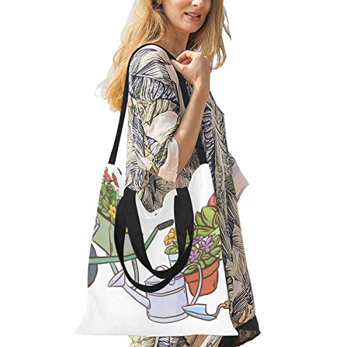 Best Grocery Bags Beautiful Garden Tools Small Canvas Bags For Crafts Canvas Tote Craft Bag Print Large Size Simple Shoulder Crossbody Strap Work School Shopper