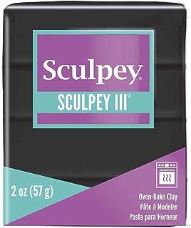 Polyform Sculpey III Polymer Clay, 2-Ounce, Black