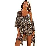 TR-yisheng Pijamas de Mujer, Conjunto de Pijamas con Estampado de Cebra de satén de Seda Sexy (Bata ...