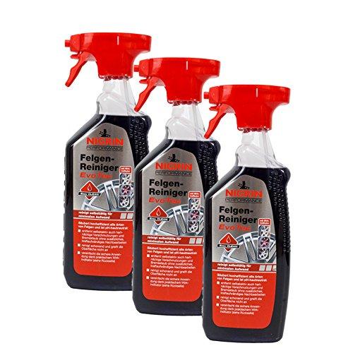 Nigrin 3X 73929 Performance Felgen-Reiniger EvoTec 750 ml