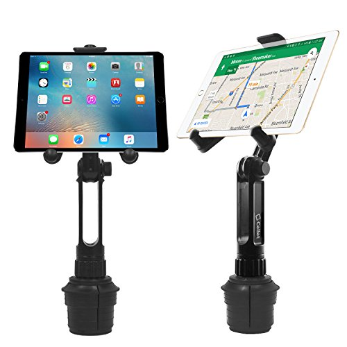 Macally 2-in-1 Heavy-Duty Car Cup Holder Mount Works with Tablets and Phones Mace Group Inc // Macally Peripherals Apple iPad Pro 10.5 9.7 Air Mini MCUPPRO iPhone Xs XS MAX XR X Any Mobile Device up to 8 Wide Samsung Galaxy Tab