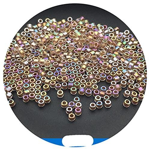 Cuentas de 2mm en el interior, colores teñidos, cuentas de semillas de vidrio uniformes para hacer joyas, pendientes, pulsera, accesorios de costura Diy