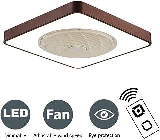 PPAMZ Ventilador de Techo Lámpara de Techo, con Luz y Mando a Distancia, Ventilador Silencioso Lámpara de Techo LED, Regulable Ventilador Invisible, Cuarto de Estar Dormitorio Plafón Fan 72W
