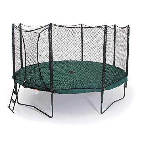 JumpSport 12 Foot Round Protective PVC Coated Trampoline Weather Cover for Rain and Sun, Green