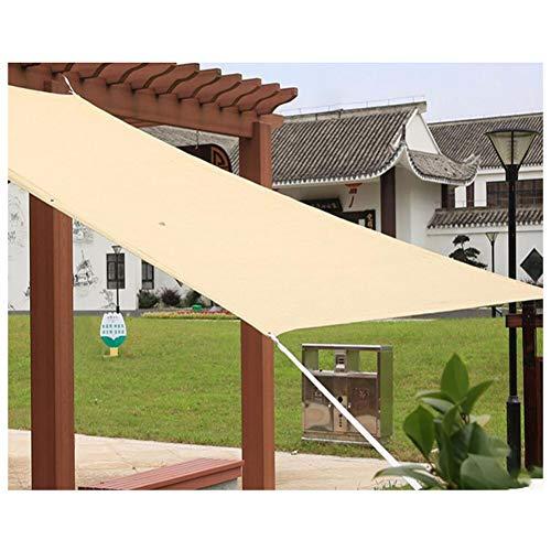 ZHANGXY Shading Net Shade Mesh Tarps Sun Shade Roof Swimming Pool Parking Space Gazebo Cool Down Polyethylene,Multi-Size,Beige-4×4m