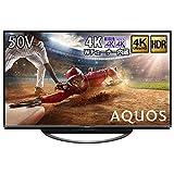 シャープ 50V型 4Kチューナー内蔵 液晶 テレビ AQUOS 4T-C50AN1 スマートテレビ(Android TV) N-Blackパネル HDR対応