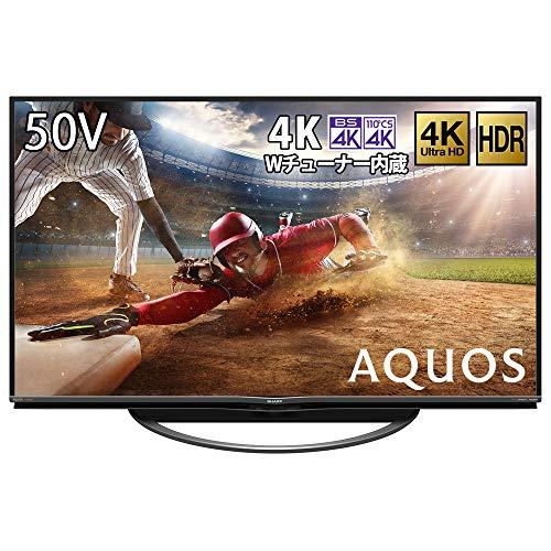 シャープ 50V型 液晶 テレビ AQUOS 4T-C50AN1 4K 新4K衛星放送チューナー内蔵 HDR対応 2018年モデル