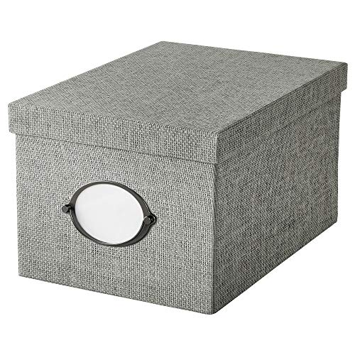 IKEA.. 104.128.78 Kvarnvik Storage Box with Lid, Gray