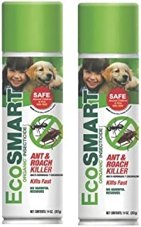 EcoSmart Techologies 682384615768 EcoSmart Ant & Roach Killer 14 oz. Aerosol (2 Pack), Brown/A