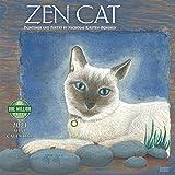 Zen Cat 2021 Mini Wall Calendar (7' x 7', 7' x 14' open)